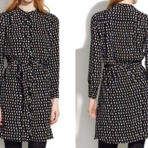 Madewell paint dot buttons down shirt dress